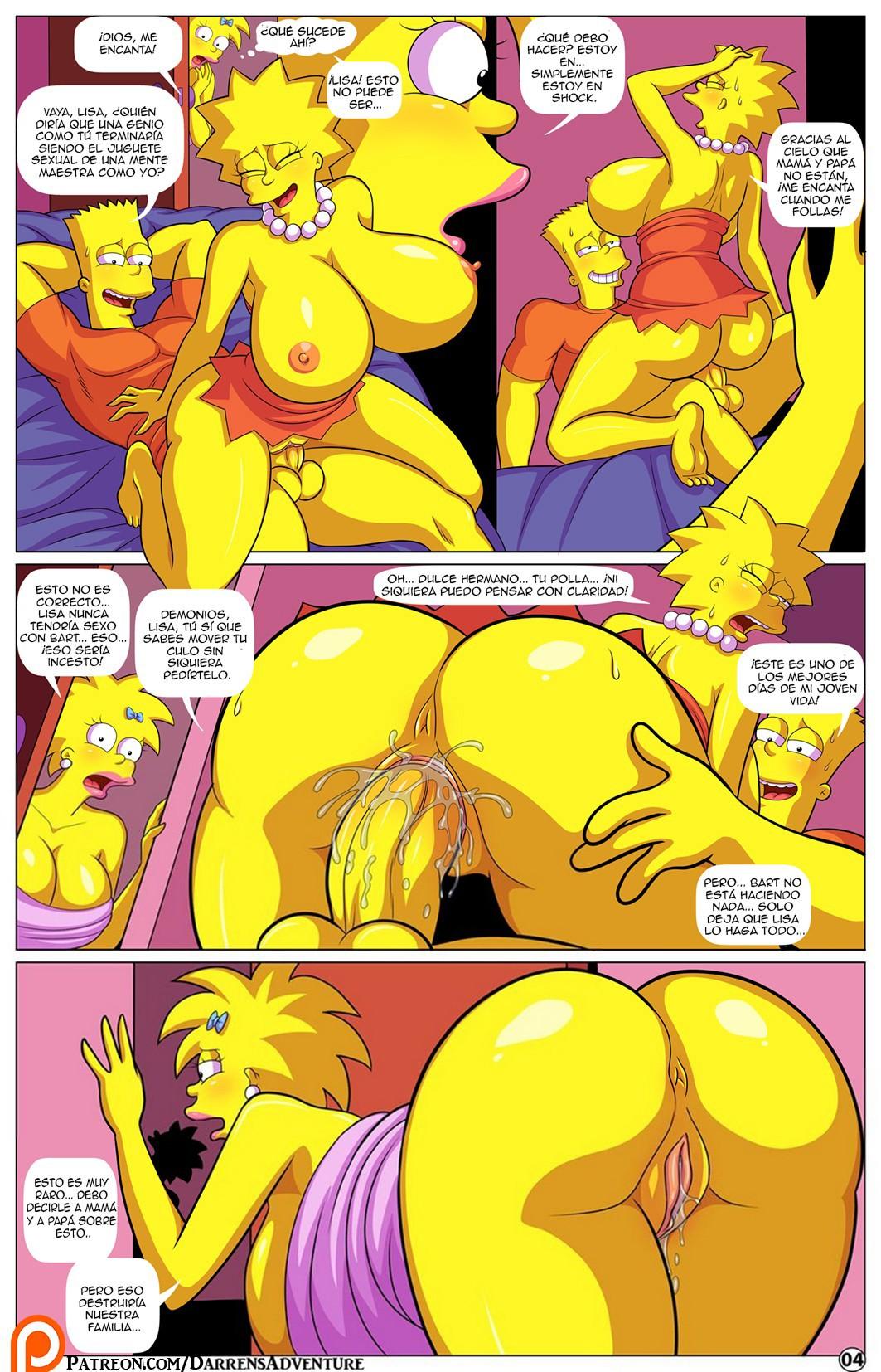 incesto entre hermanos los simpsons porno bart y lisa follando