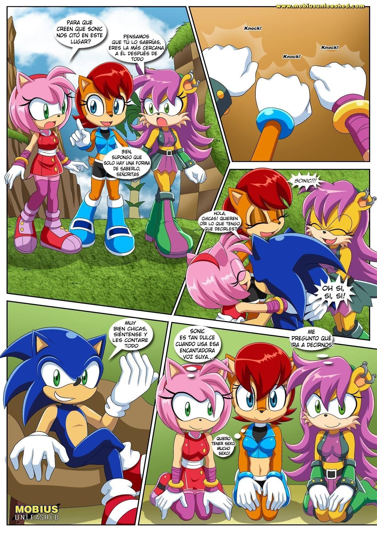 Sonic a Amy porno komiksy