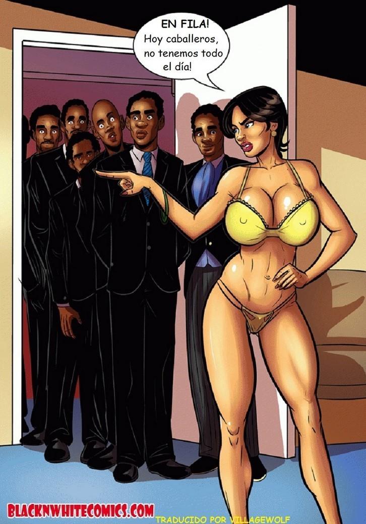 Mujeres Milftoon Follando orgía femenina
