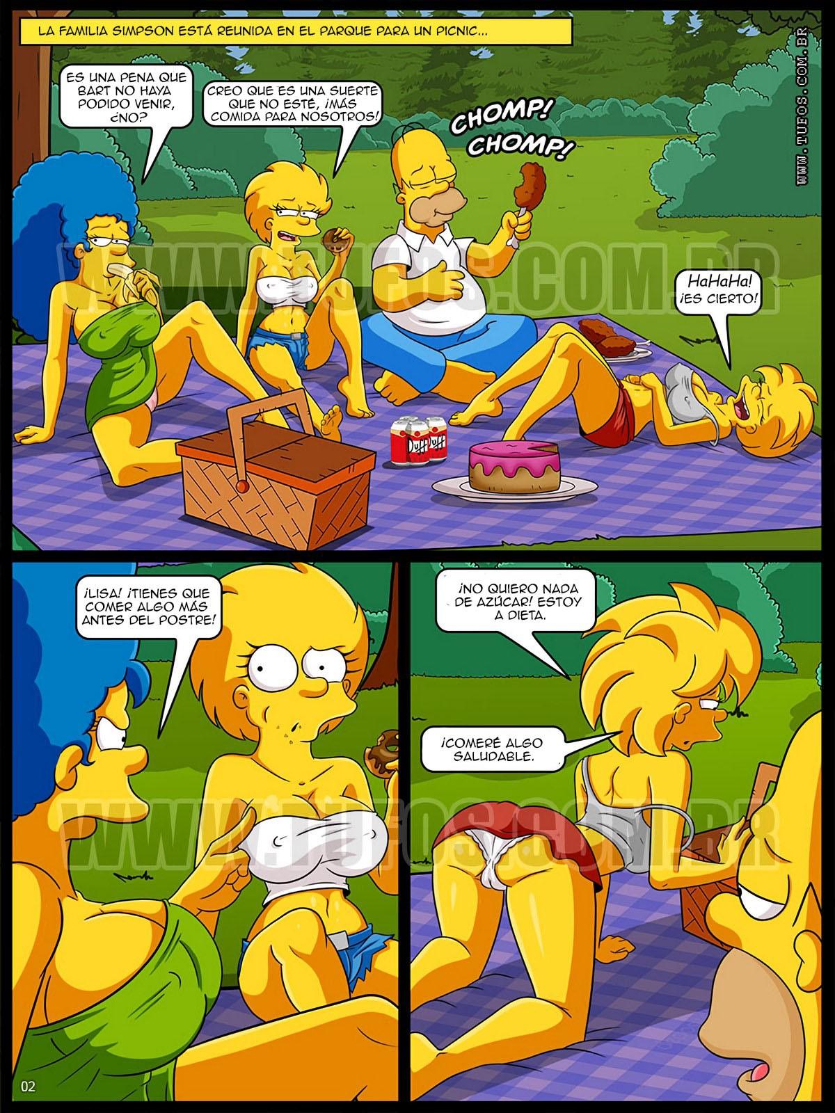 The Simpsons xxx Incesto al aire libre