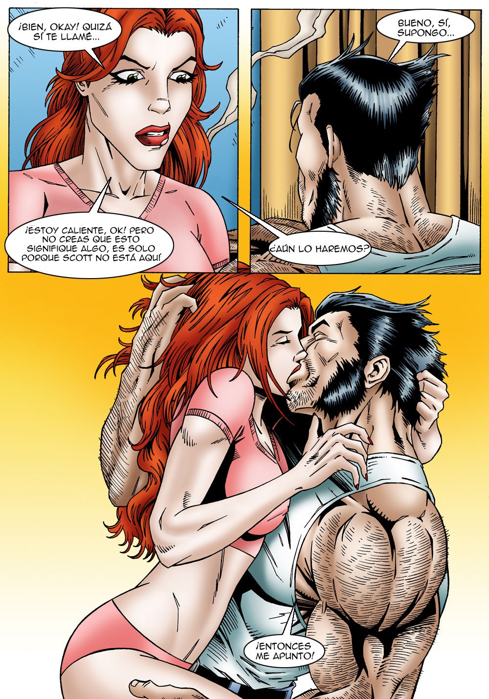 X men porno Logan y Jean Grey follando