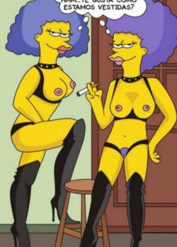 Bart simpson follando con sus tias