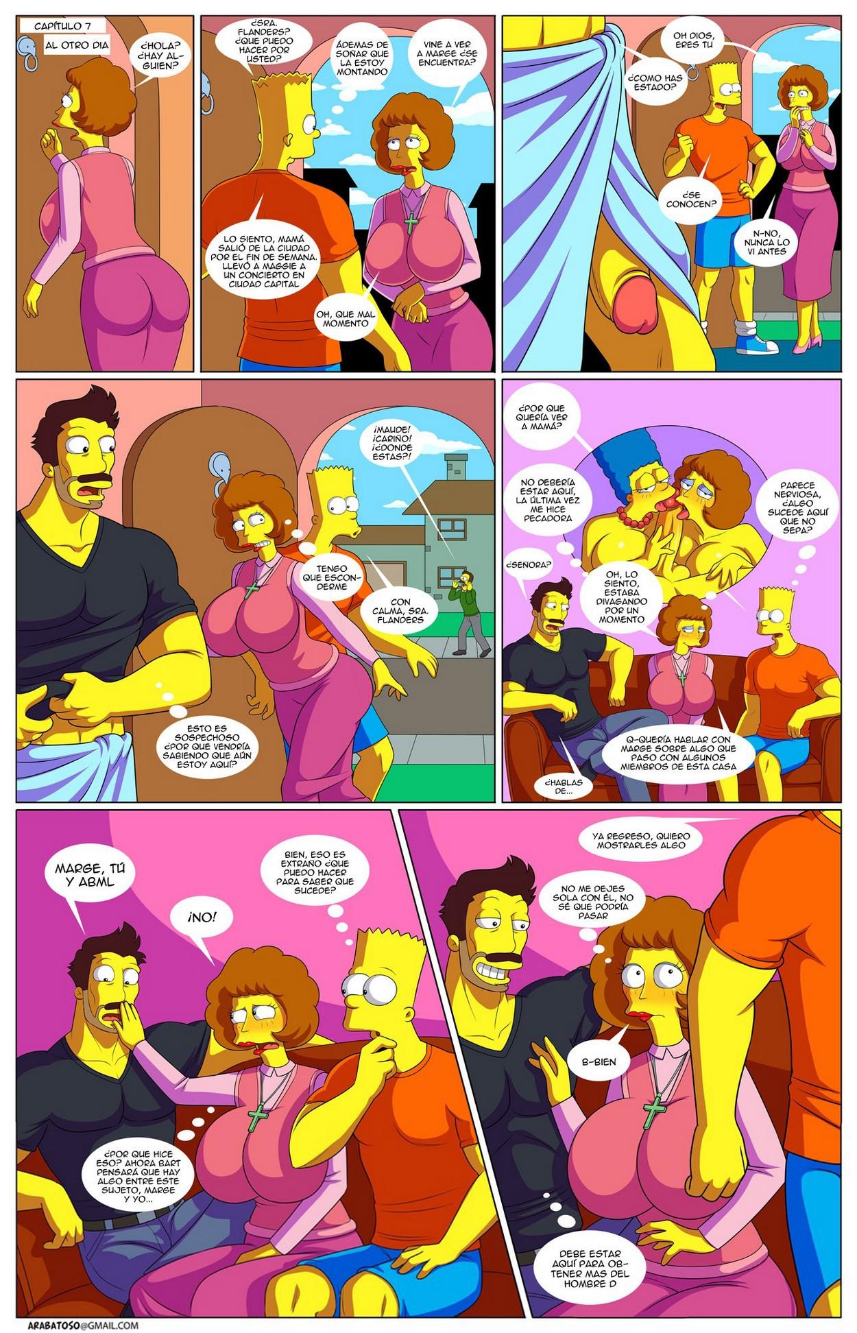 Lisa et Bart Simpson porno comique