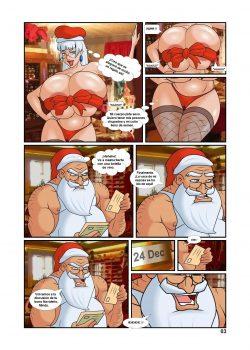Santa Claus follando con su elfa navidad xxx